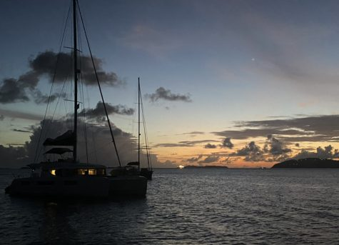 Photo 2- There are beautiful sunsets and sunrises everyday in St. Thomas. (Credit: Devyn Hlavek)