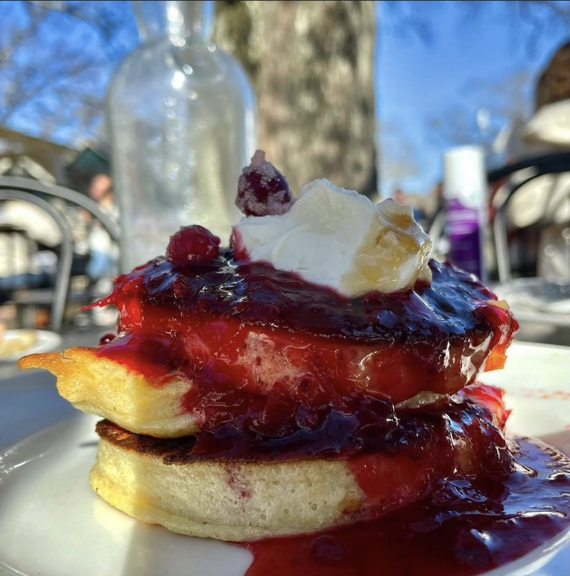 The Ricotta Lemon Hotcakes are the star of the show in my opinion. These are a must order anytime I go to Fellows. (Credit: Rachel Sandstrom)